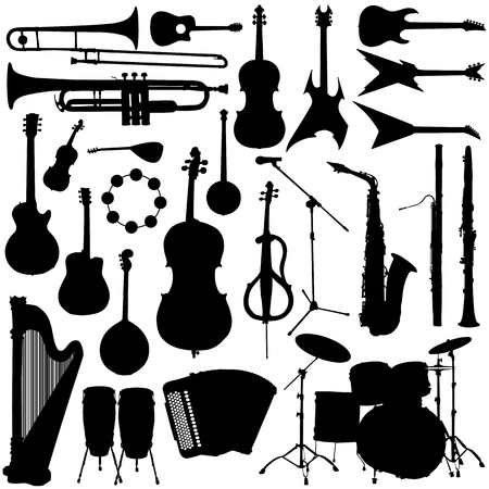 band instruments: collection of music Illustration