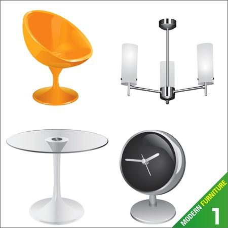 modern furniture  vector Stock Vector - 9247553