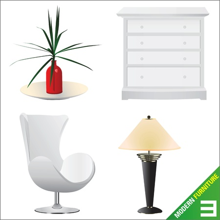 modern furniture  vector Stock Vector - 9247541