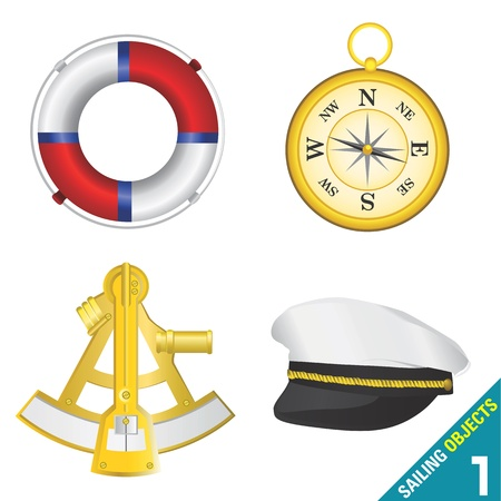 sailing objects Stock Vector - 9247545