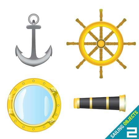 sailing objects Stock Vector - 9247411