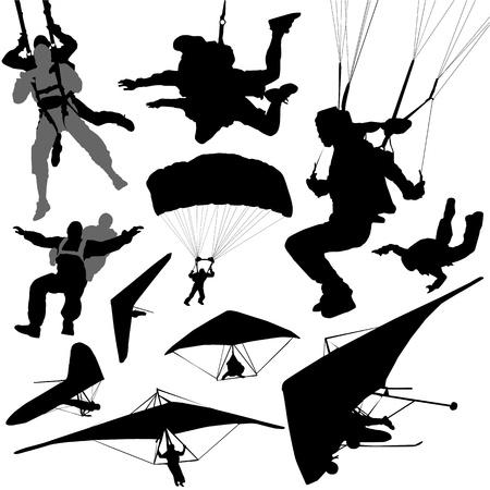 deportes extremos de moscas Ilustración de vector