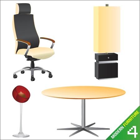 modern furniture  vector Stock Vector - 9247414