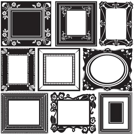 black picture frame: picture frame vector  Illustration