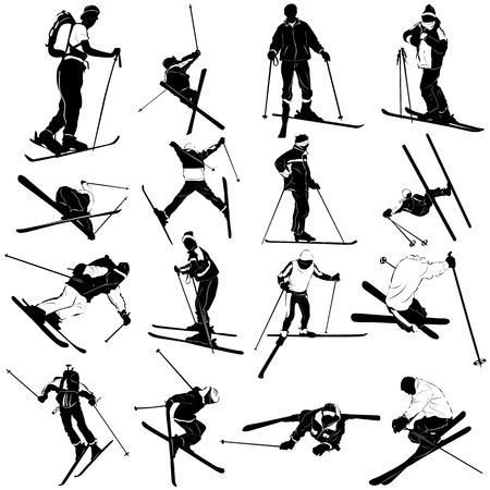 ski vector set  Vector
