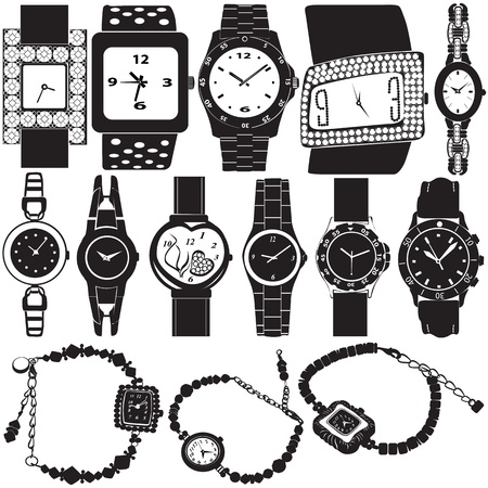 pm: fashion watch vector