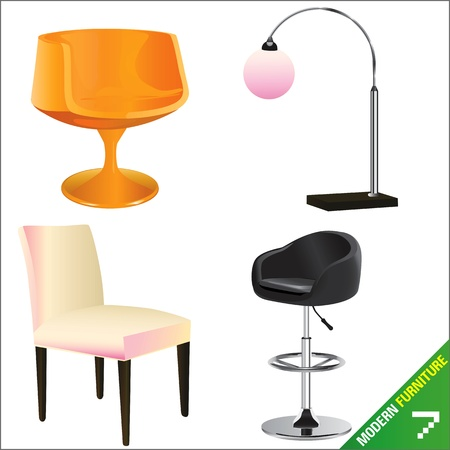 modern furniture 7 vector  Stock Vector - 9247408