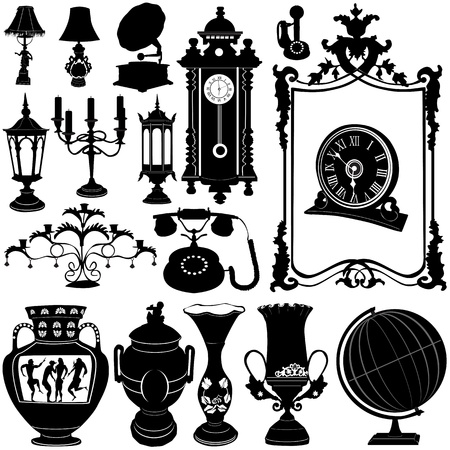 antique objects vector  Vector