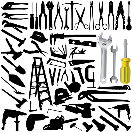 collection of tool vector Stock Vector - 9247542