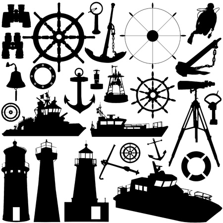 anchors: sailing object vector