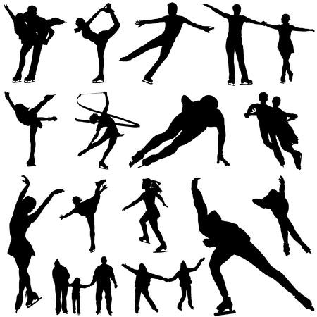 korcsolya: ice skate vector  Illusztráció