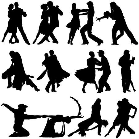 dance: vector de danza Vectores