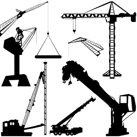 construction crane: construction crane vector Illustration