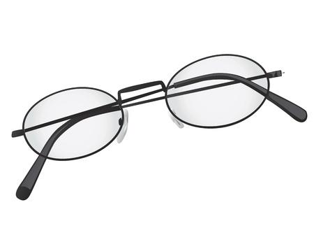 folded eye glasses Stock Vector - 9247347