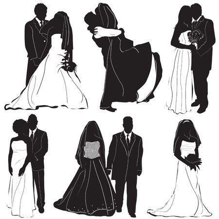 bride groom vector  Vector