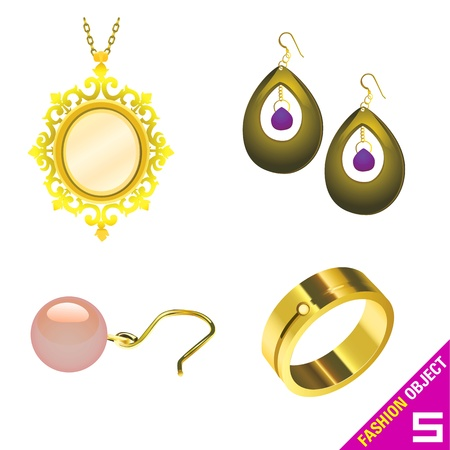 blind woman: jewelry vector  Illustration