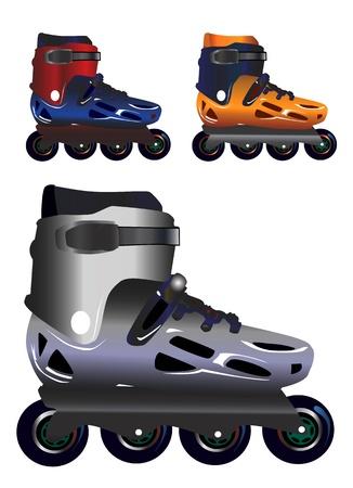rollerblade: roller blade  Illustration