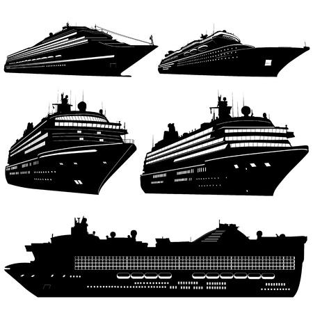 capitan de barco: vector de transporte de mar
