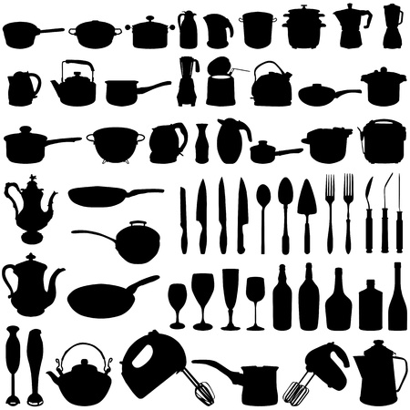 pots and pans: kitchen objects