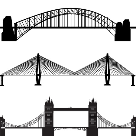 tense: bridge vector  Illustration