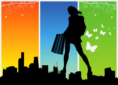 shopping women vector 2 Stock Vector - 9247341