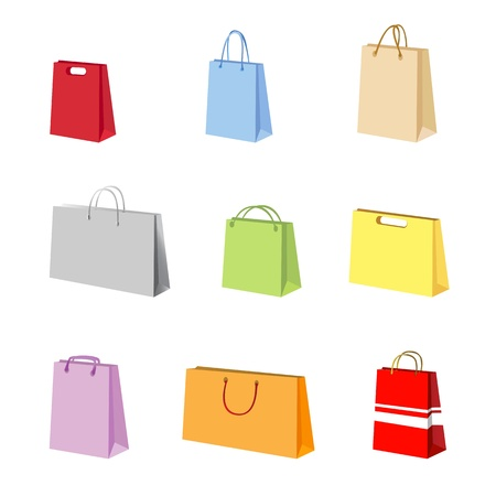 foot gear: shopping package vector  Illustration