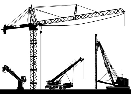 heavy construction: construction vector  Illustration