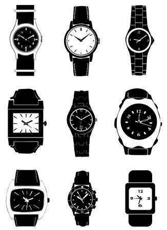 fashion watch vector Vector