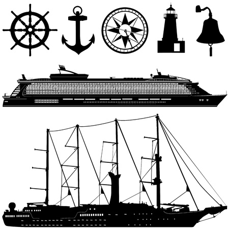 cruise travel: sea transportation   Illustration