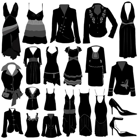 clothing shop: vector de traje de moda  Vectores