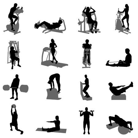 dumb: fitness vector  Illustration
