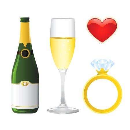 red diamond: valentine objects  Illustration