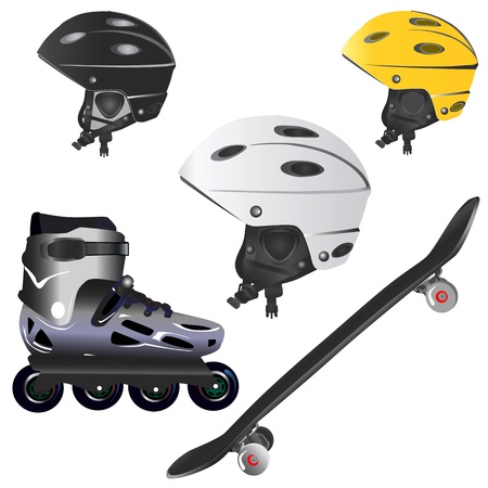 roller blade: extreme sport object  Illustration