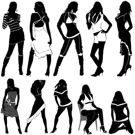 fashion women Stock Vector - 9247513