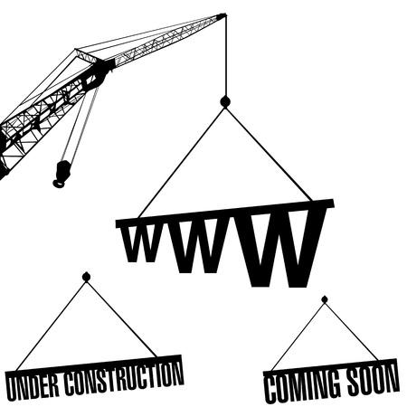 under construction web  Vector