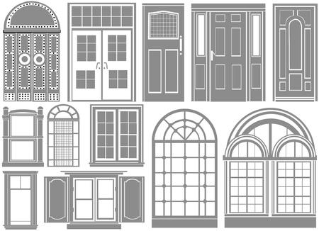 охватывающей: door and window