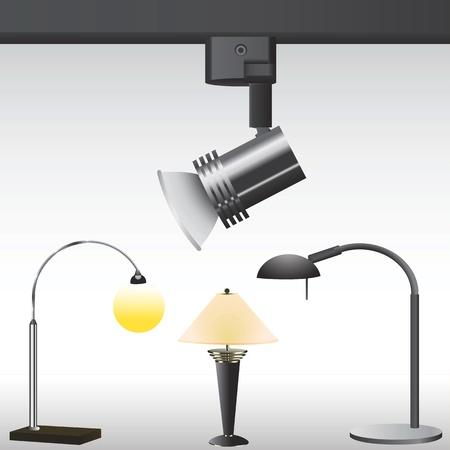 modern lighting Stock Vector - 9315901
