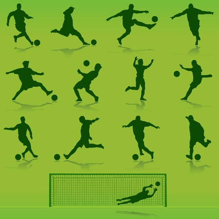 practices: soccer vector  Illustration