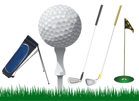 caddy: golf accessories vector  Illustration