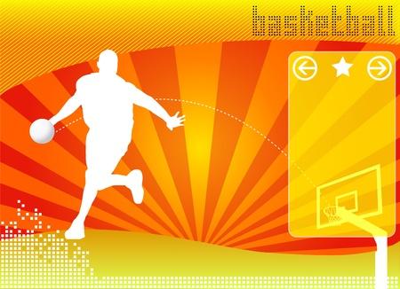 basketball concept background vector Vector