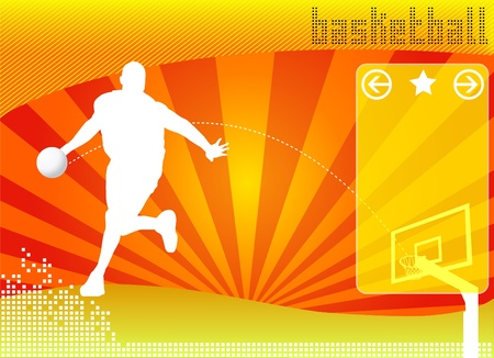 basketball concept background vector Vector