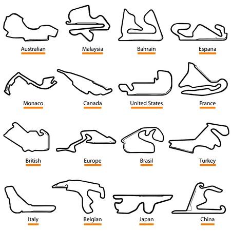 Formel Start-und Landebahn