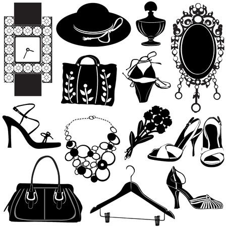 Accessoires femmes vecteur
