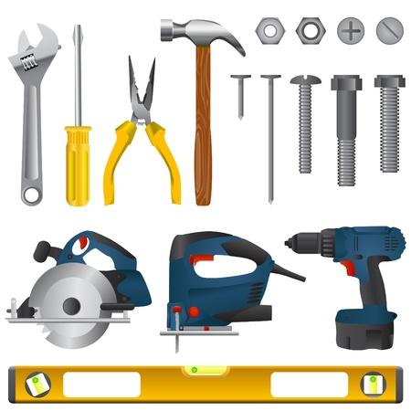 tool set vector  Illustration