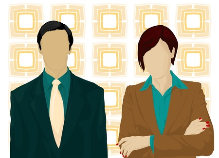 business man and woman vector  Vector