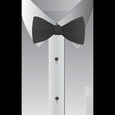 bow tie: shirt and bowtie vector  Illustration