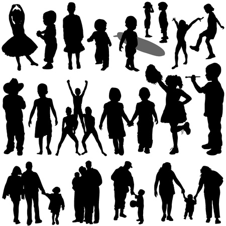 activity holiday: children and family vector  Illustration