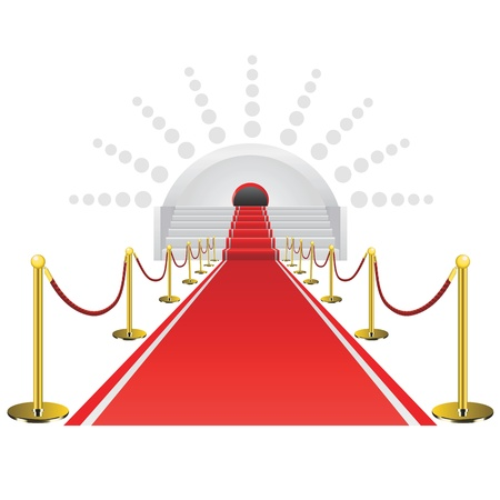 famous industries: red carpet vector