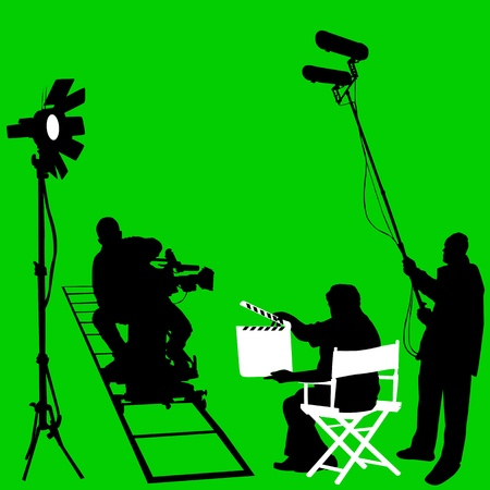 broadcasting: pel�cula ambientada vector Vectores