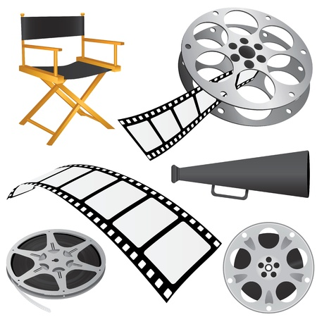 reel: film objects vector